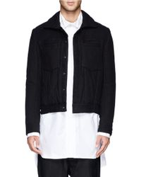 Ann Demeulemeester Padded Cotton Jacket - Lyst