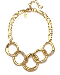 Sequin | Interlocking Gold Chain Necklace | Lyst