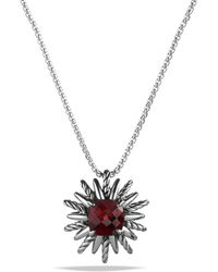 David Yurman Pendant Necklace With Garnet - Lyst