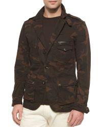Ralph Lauren Black Label Camo-Print Field Jacket - Lyst