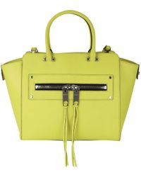 MILLY - Riley Leather Tote Bag - Lyst