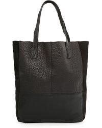 Mango Contrast Leather Bag - Lyst