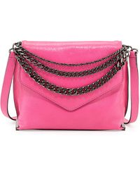 Milly Collins Chainstrap Crossbody Bag Fuchsia - Lyst