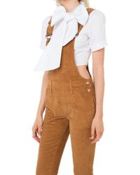 Akira Black Label - How About It Corduroy Overalls - Camel - Lyst