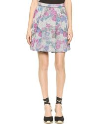 Sea 2 Pleat Floral Jersey Skirt - Floral - Lyst