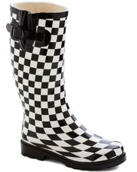 ModCloth Chess For Success Rain Boot - Lyst