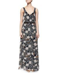 Ella Moss Blossom Floral-Print Maxi Dress - Lyst