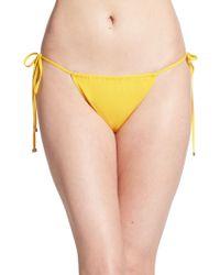 Dolce & Gabbana String Side-Tie Bikini Bottom - Lyst