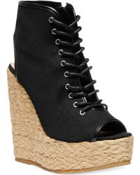 Steve Madden Womens Holiday Platform Wedge Sandals - Lyst