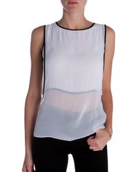 Helmut Lang Double Layered Top - Lyst