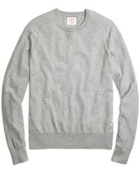 Brooks Brothers Cotton Cashmere Crewneck Sweater - Lyst