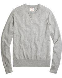 Brooks Brothers Cotton Cashmere Crewneck Sweater - Lyst