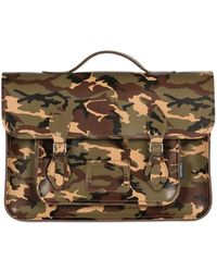 Zatchels Camo Printed Leather Satchel - Lyst
