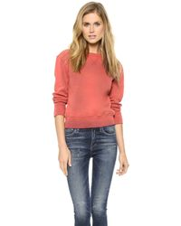 Citizens of Humanity - Camryn Sweatshirt Sunfade Red - Lyst