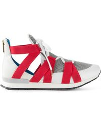 Vionnet Crossed Strap Mesh Sneakers - Lyst