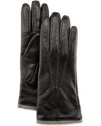 Grandoe - Seamed Leather Gloves - Lyst