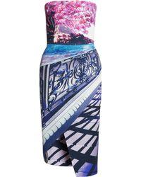 Mary Katrantzou Woody Strapless Dress Blossom - Lyst