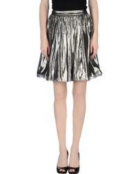 Alice + Olivia Knee Length Skirt gray - Lyst