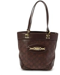 Gucci Preowned Dark Brown Ssima Mini Tote - Lyst