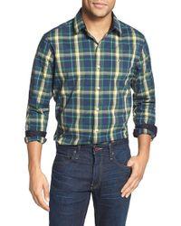 Victorinox - 'morgan' Tailored Fit Plaid Sport Shirt - Lyst