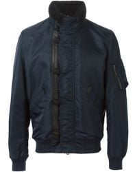 Burberry Brit - Trimmed Collar Bomber Jacket - Lyst