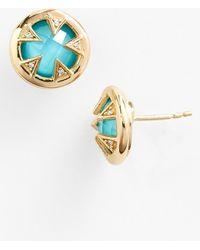 Melinda Maria 'Tessa' Turquoise Doublet Stud Earrings - Lyst