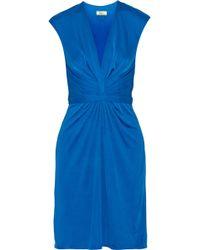 Issa Gathered Silk-jersey Dress - Lyst