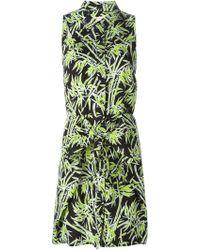MICHAEL Michael Kors Foliage-Print Dress - Lyst