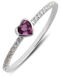 Bony Levy Heart Stone & Diamond Ring - Lyst