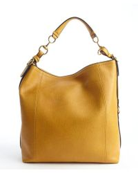 Gucci Ochre Leather Large Hobo Bag - Lyst