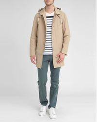 Celio Club Beige Trench Coat With Removable Hood - Lyst