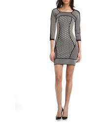 A.L.C. Jay Printblocked Knit Bodycon Dress - Lyst