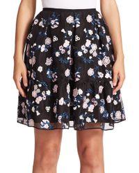 Erdem   Levia Floral Flounce Mini Skirt   Lyst