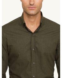 Ralph Lauren Black Label Heathered Poplin Sloan Shirt - Lyst