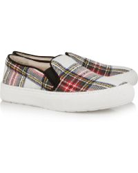 Markus Lupfer Plaid Canvas Slipon Sneakers - Lyst