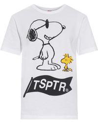 Tsptr Snoopy-Print Cotton-Jersey T-Shirt white - Lyst