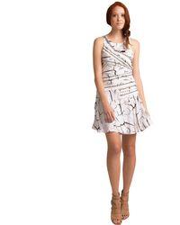 Sachin & Babi Canvas Studded Branch Print Dress - Lyst