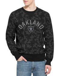 47 Brand   'oakland Raiders - Stealth' Camo Crewneck Sweatshirt   Lyst