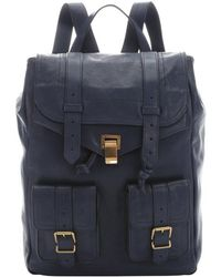 Proenza Schouler Midnight Leather 'Ps 1' Buckle Detail Backpack - Lyst