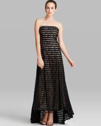 Vera Wang Gown Strapless Shutter - Lyst