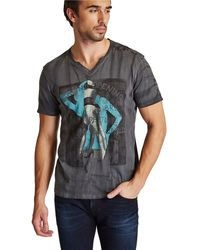 Guess Streak Graphic Tshirt - Lyst