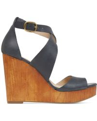 Lucky Brand Women'S Lyndell Platform Wedge Sandals - Lyst