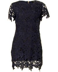 Ax Paris Crochet Floral Shift Dress - Lyst