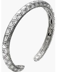 John Hardy 'Naga' Scale Slim Cuff silver - Lyst