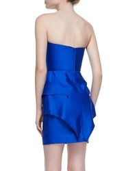 Suboo Origami Satin Strapless Panel Dress - Lyst
