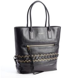 Marc Jacobs Black Leather Cargo Tote Bag with Laced Eyelet Detail - Lyst