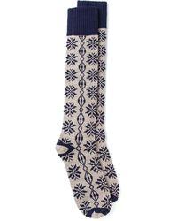Golden Goose Deluxe Brand Gray Snowflake Socks - Lyst