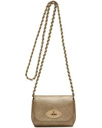 Mulberry Mini Lily beige - Lyst