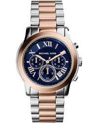 Michael Kors Cooper Two-Tone Watch - Lyst