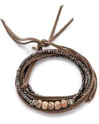 Pascale Monvoisin - Clemence Wrap Bracelet - Bronze/Pyrite/Silver/Gold - Lyst